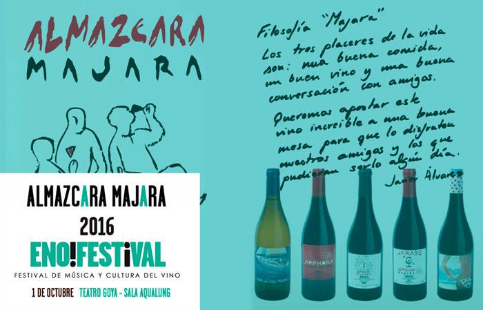 vinos de Almazcara Majara llegan a enoFestival